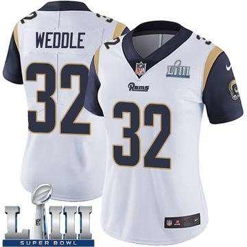 Women's Nike Los Angeles Rams Eric Weddle White Super Bowl LIII Bound Vapor Untouchable Jersey - Limited
