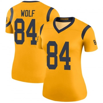 Women's Nike Los Angeles Rams Ethan Wolf Gold Color Rush Jersey - Legend