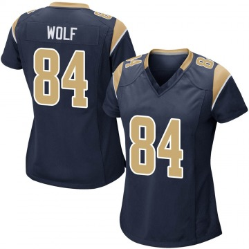 Women's Nike Los Angeles Rams Ethan Wolf Navy Team Color Jersey - Game