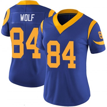 Women's Nike Los Angeles Rams Ethan Wolf Royal 100th Vapor Jersey - Limited