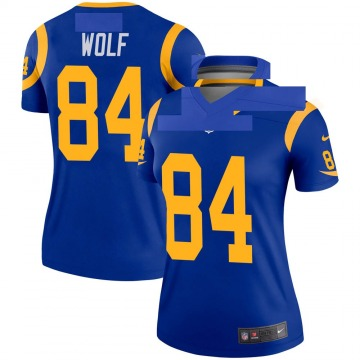 Women's Nike Los Angeles Rams Ethan Wolf Royal Jersey - Legend