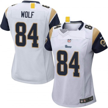 Women's Nike Los Angeles Rams Ethan Wolf White Jersey - Game