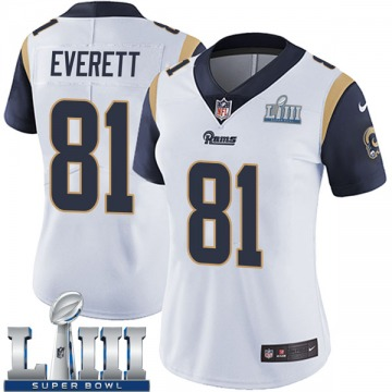 Women's Nike Los Angeles Rams Gerald Everett White Super Bowl LIII Bound Vapor Untouchable Jersey - Limited