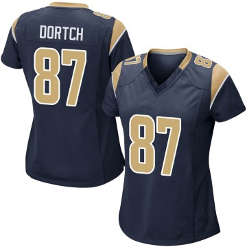 Women's Nike Los Angeles Rams Greg Dortch Navy Team Color Jersey - Game
