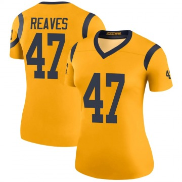 Women's Nike Los Angeles Rams Greg Reaves Gold Color Rush Jersey - Legend