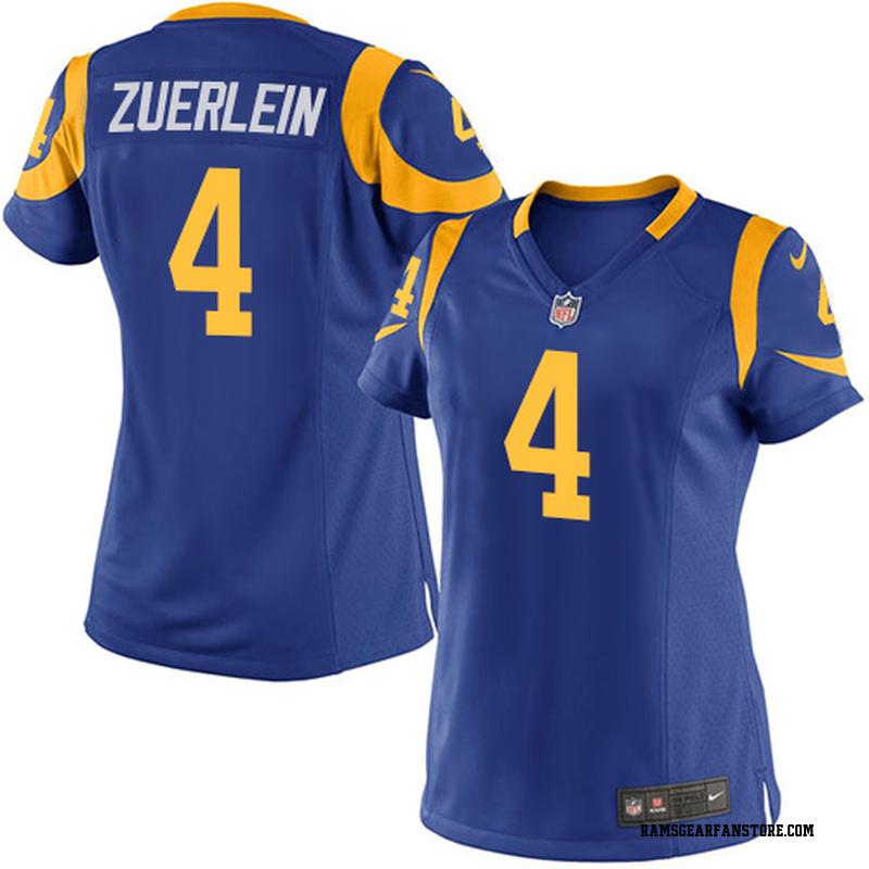 best service a005b b7851 Women's Nike Los Angeles Rams Greg Zuerlein Royal Blue Alternate Jersey -  Game