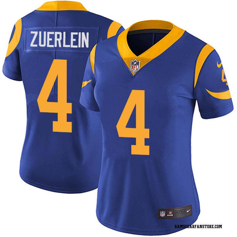 new concept e3688 bbc74 Women's Nike Los Angeles Rams Greg Zuerlein Royal Blue Alternate Jersey -  Limited