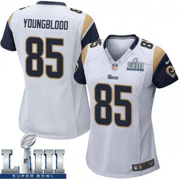Women's Nike Los Angeles Rams Jack Youngblood White Super Bowl LIII Bound Jersey - Game