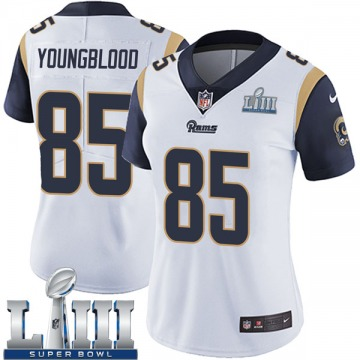 Women's Nike Los Angeles Rams Jack Youngblood White Super Bowl LIII Bound Vapor Untouchable Jersey - Limited