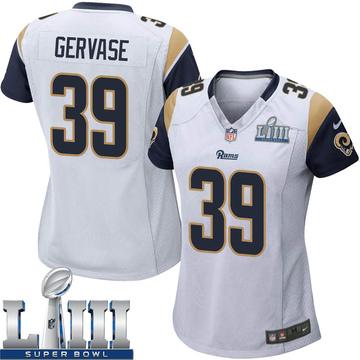 Women's Nike Los Angeles Rams Jake Gervase White Super Bowl LIII Bound Jersey - Game