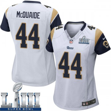 Women's Nike Los Angeles Rams Jake McQuaide White Super Bowl LIII Bound Jersey - Game