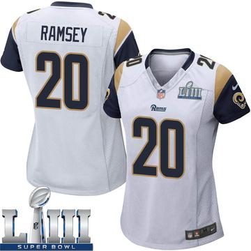 Women's Nike Los Angeles Rams Jalen Ramsey White Jalen ey Super Bowl LIII Bound Jersey - Game