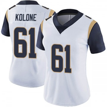 Women's Nike Los Angeles Rams Jeremiah Kolone White Vapor Untouchable Jersey - Limited