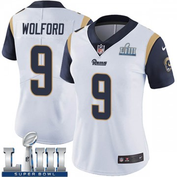 Women's Nike Los Angeles Rams John Wolford White Super Bowl LIII Bound Vapor Untouchable Jersey - Limited