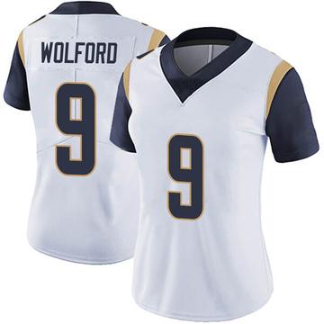 Women's Nike Los Angeles Rams John Wolford White Vapor Untouchable Jersey - Limited