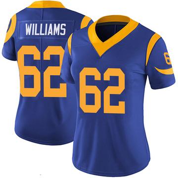 Women's Nike Los Angeles Rams Jonah Williams Royal 100th Vapor Jersey - Limited