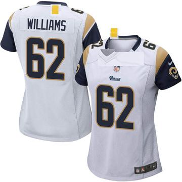 Women's Nike Los Angeles Rams Jonah Williams White Jersey - Game