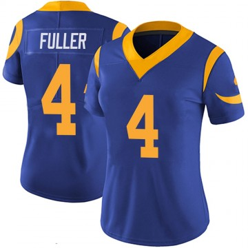 Women's Nike Los Angeles Rams Jordan Fuller Royal 100th Vapor Jersey - Limited