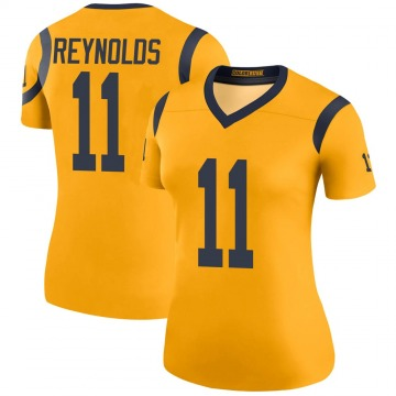 Women's Nike Los Angeles Rams Josh Reynolds Gold Color Rush Jersey - Legend