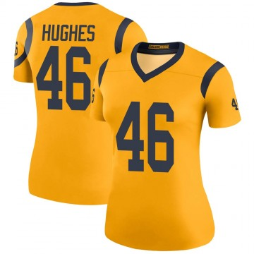 Women's Nike Los Angeles Rams Juju Hughes Gold Color Rush Jersey - Legend