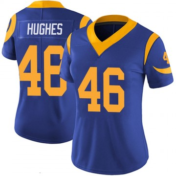 Women's Nike Los Angeles Rams Juju Hughes Royal 100th Vapor Jersey - Limited