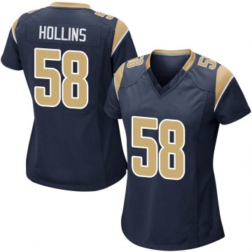 Women's Nike Los Angeles Rams Justin Hollins Navy Team Color Jersey - Game