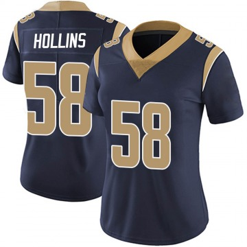 Women's Nike Los Angeles Rams Justin Hollins Navy Team Color Vapor Untouchable Jersey - Limited