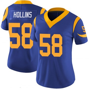 Women's Nike Los Angeles Rams Justin Hollins Royal 100th Vapor Jersey - Limited
