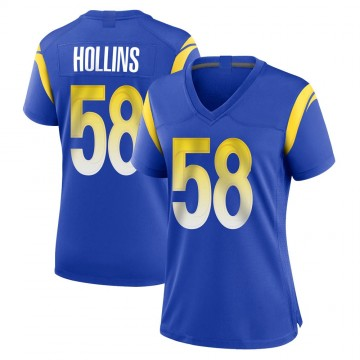 Women's Nike Los Angeles Rams Justin Hollins Royal Alternate Jersey - Game