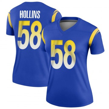 Women's Nike Los Angeles Rams Justin Hollins Royal Jersey - Legend
