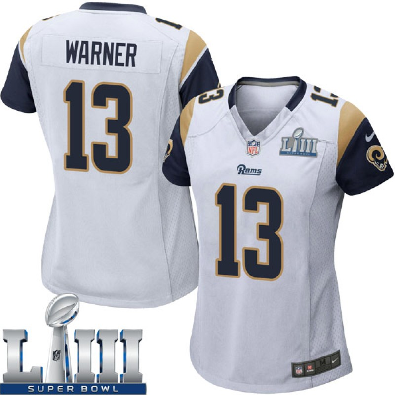 san francisco 4e1fa 85ac6 Women's Nike Los Angeles Rams Kurt Warner White Super Bowl LIII Bound  Jersey - Game