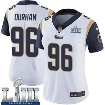 Women's Nike Los Angeles Rams Landis Durham White Super Bowl LIII Bound Vapor Untouchable Jersey - Limited