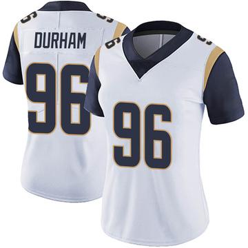 Women's Nike Los Angeles Rams Landis Durham White Vapor Untouchable Jersey - Limited