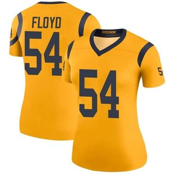 Women's Nike Los Angeles Rams Leonard Floyd Gold Color Rush Jersey - Legend