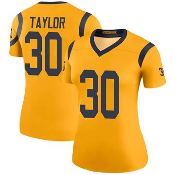 Women's Nike Los Angeles Rams Levonta Taylor Gold Color Rush Jersey - Legend
