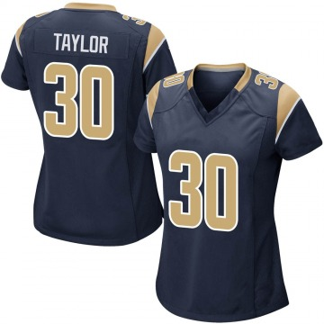 Women's Nike Los Angeles Rams Levonta Taylor Navy Team Color Jersey - Game