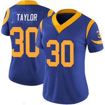 Women's Nike Los Angeles Rams Levonta Taylor Royal 100th Vapor Jersey - Limited