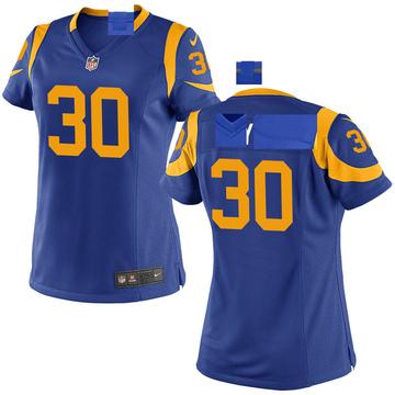 Women's Nike Los Angeles Rams Levonta Taylor Royal Alternate Jersey - Game