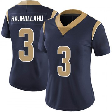 Women's Nike Los Angeles Rams Lirim Hajrullahu Navy Team Color Vapor Untouchable Jersey - Limited