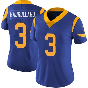 Women's Nike Los Angeles Rams Lirim Hajrullahu Royal Alternate Vapor Untouchable Jersey - Limited