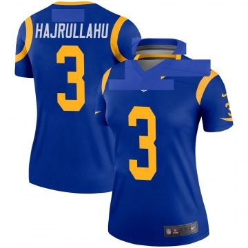 Women's Nike Los Angeles Rams Lirim Hajrullahu Royal Jersey - Legend