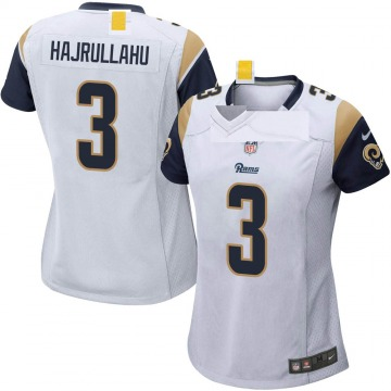 Women's Nike Los Angeles Rams Lirim Hajrullahu White Jersey - Game