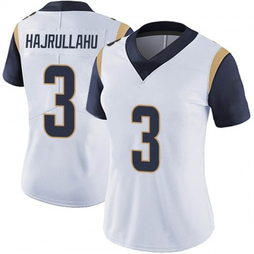Women's Nike Los Angeles Rams Lirim Hajrullahu White Vapor Untouchable Jersey - Limited