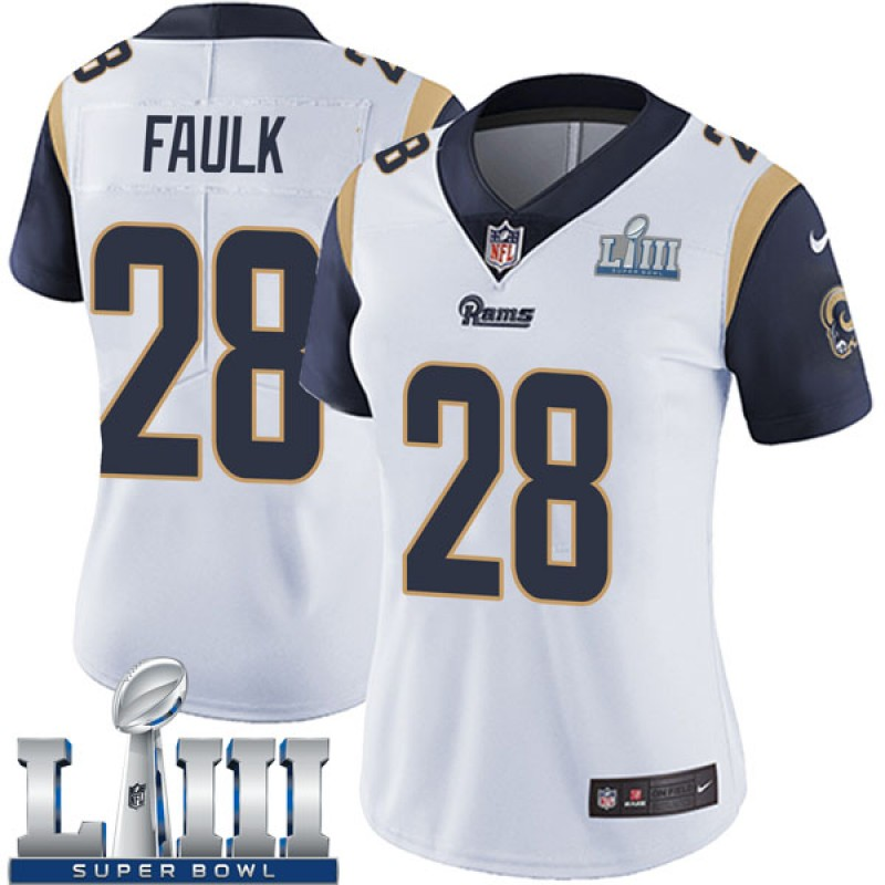 1b277322ef Women's Nike Los Angeles Rams Marshall Faulk White Super Bowl LIII Bound  Vapor Untouchable Jersey - Limited
