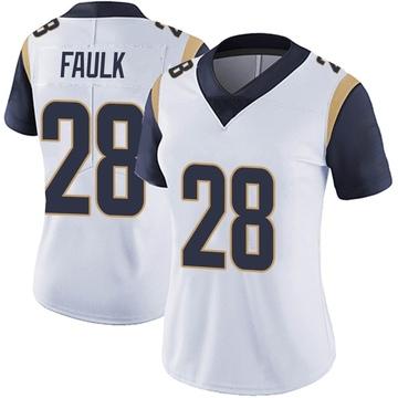 Women's Nike Los Angeles Rams Marshall Faulk White Vapor Untouchable Jersey - Limited