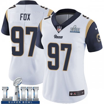 Women's Nike Los Angeles Rams Morgan Fox White Super Bowl LIII Bound Vapor Untouchable Jersey - Limited