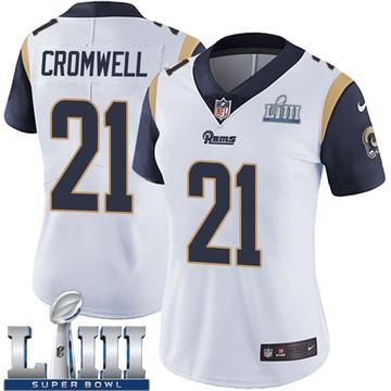 Women's Nike Los Angeles Rams Nolan Cromwell White Super Bowl LIII Bound Vapor Untouchable Jersey - Limited