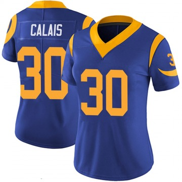 Women's Nike Los Angeles Rams Raymond Calais Royal 100th Vapor Jersey - Limited