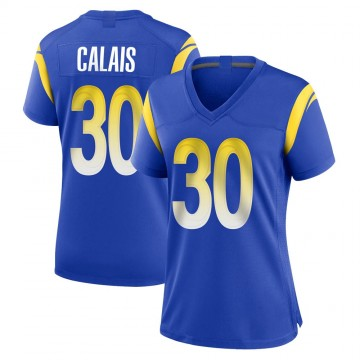 Women's Nike Los Angeles Rams Raymond Calais Royal Alternate Jersey - Game