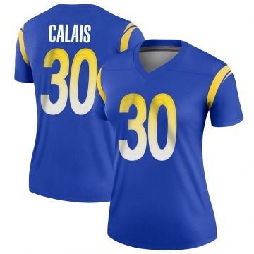 Women's Nike Los Angeles Rams Raymond Calais Royal Jersey - Legend